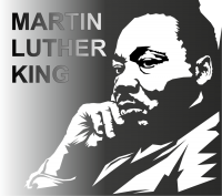 Luther King Jr Vector Clipart 200x177
